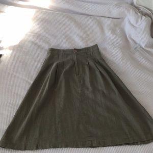 Linen skirt size small